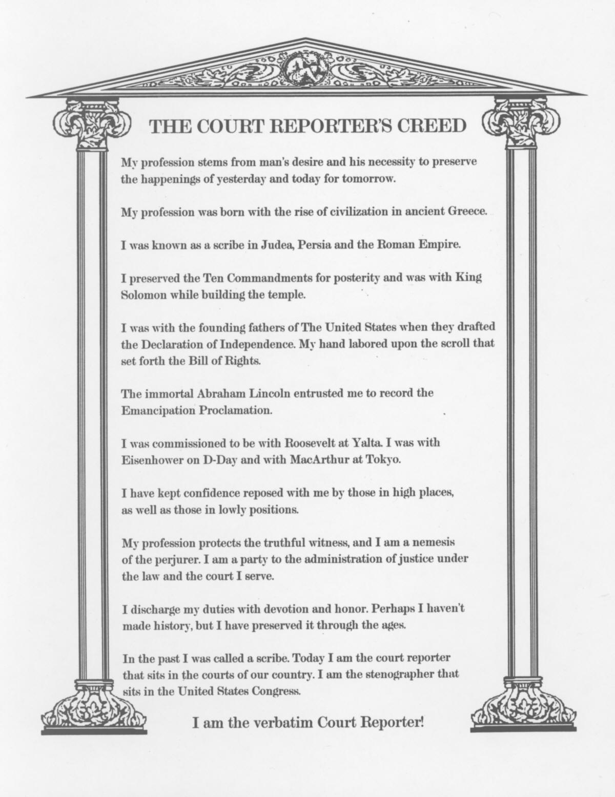 Bill Of Rights Scroll Black And White
